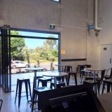 Seating area at White Brick Brewing that's perfect for functions.