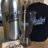 White Brick Brewing merchandise available.